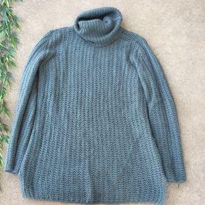 Trouve Knit Alpaca Wool Turtleneck Sweater